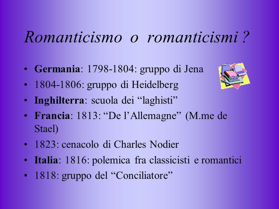 Romanticismo o romanticismi