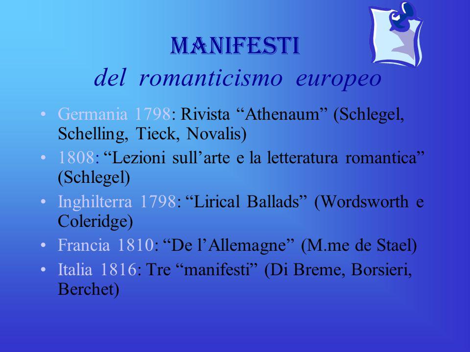 Manifesti del romanticismo europeo