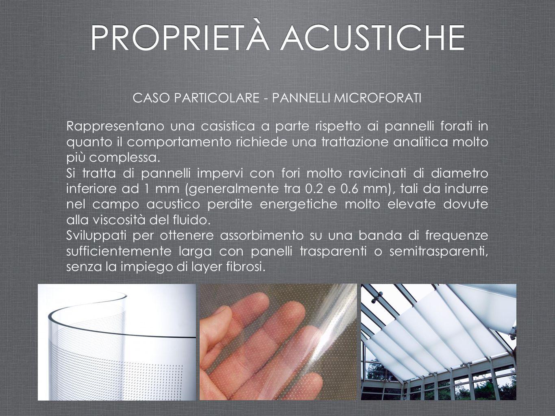 CASO PARTICOLARE - PANNELLI MICROFORATI