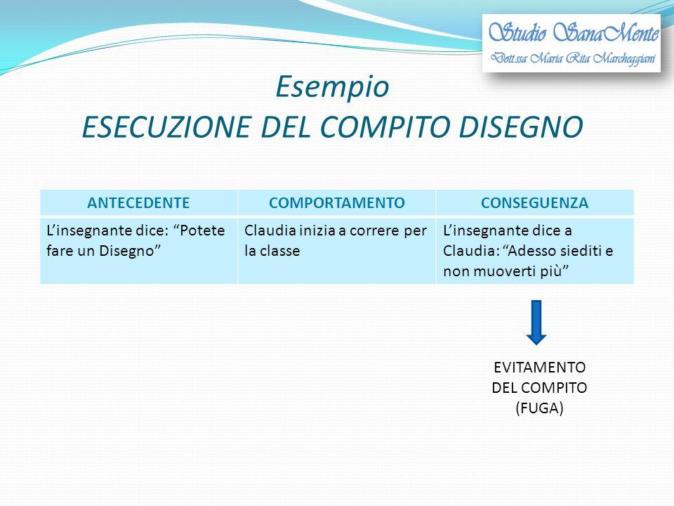 Esempio ESECUZIONE DEL COMPITO DISEGNO