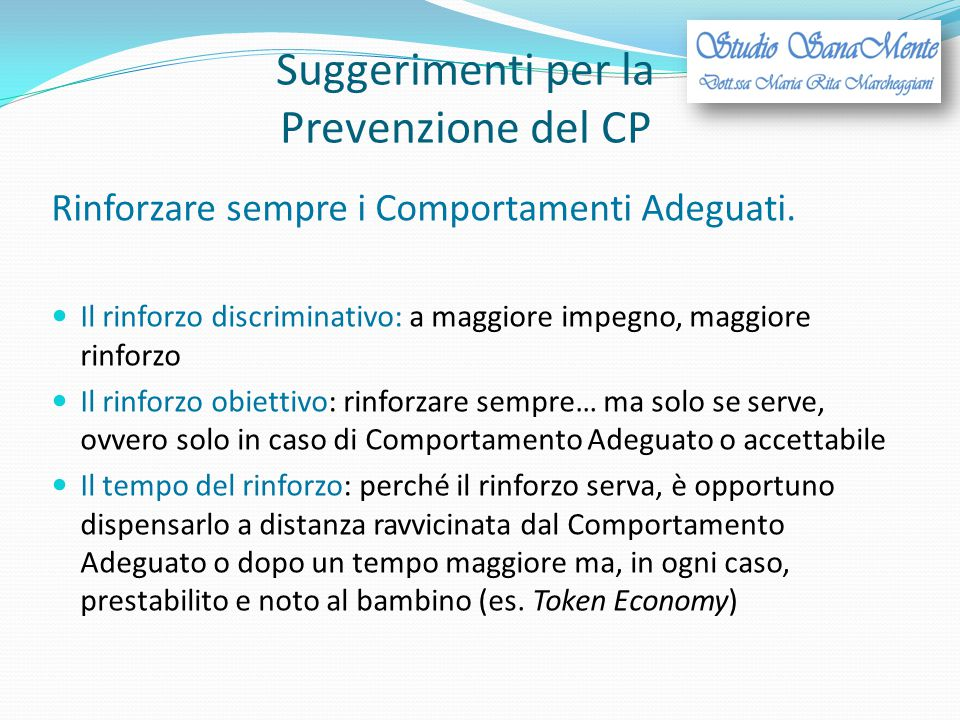 Suggerimenti per la Prevenzione del CP