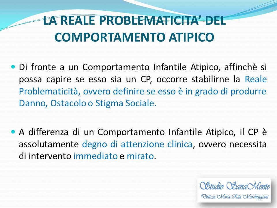 LA REALE PROBLEMATICITA' DEL COMPORTAMENTO ATIPICO