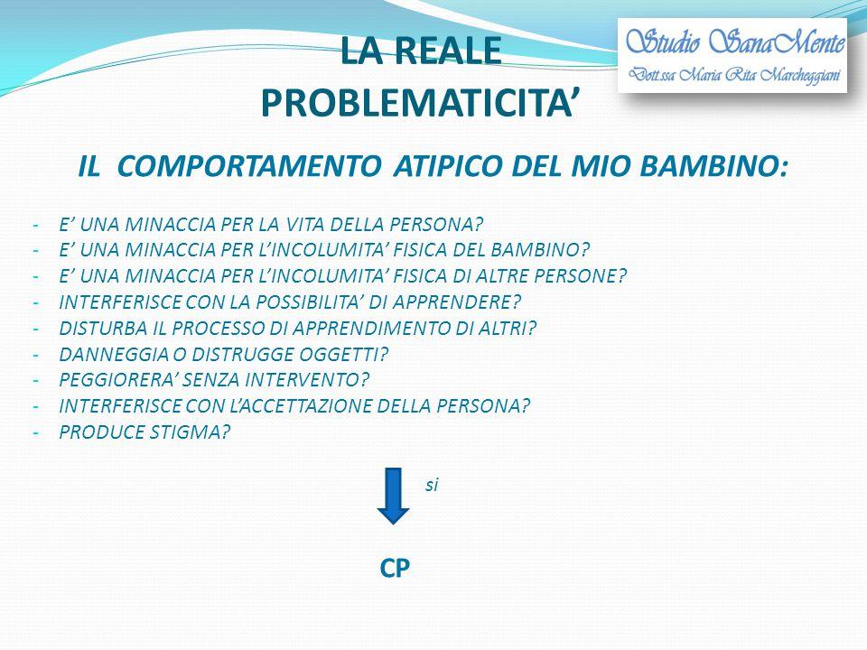 LA REALE PROBLEMATICITA'