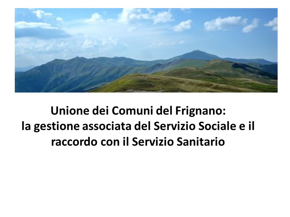 Unione dei Comuni del Frignano: