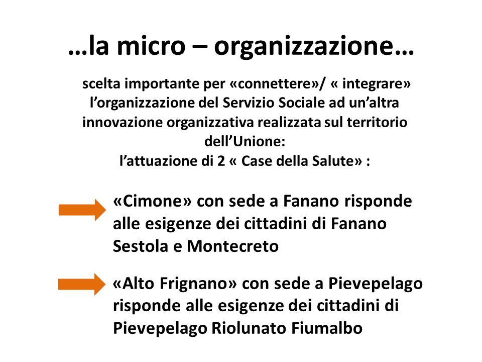 …la micro – organizzazione…