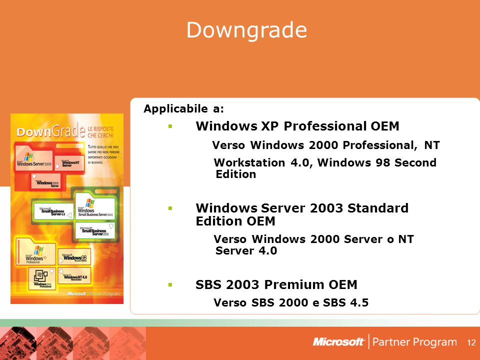 Downgrade Downgrade Windows XP Professional OEM