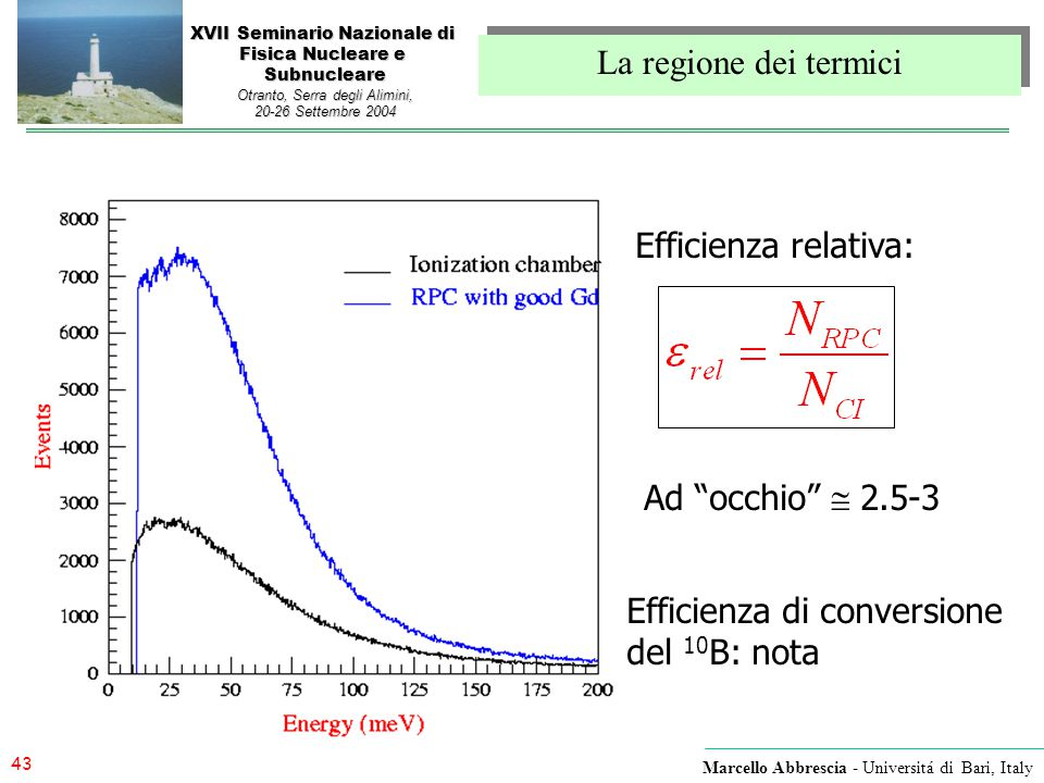 Efficienza di conversione del 10B: nota