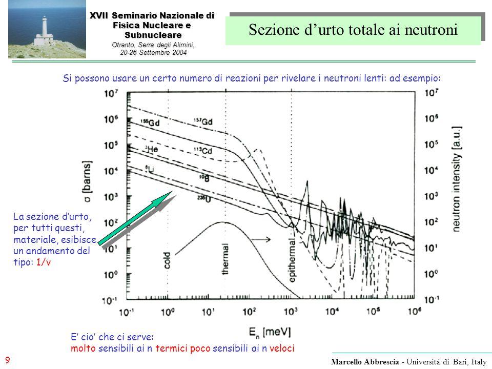 Sezione d'urto totale ai neutroni