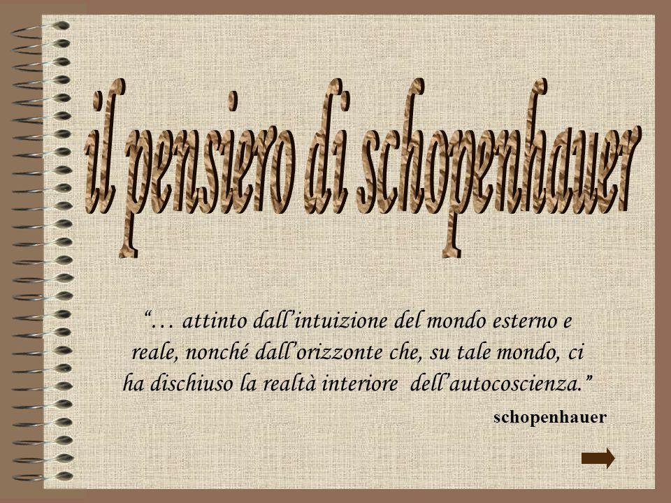 il pensiero di schopenhauer