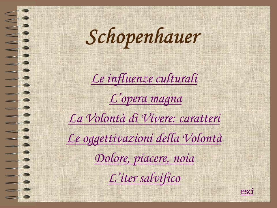 Schopenhauer Le influenze culturali L'opera magna
