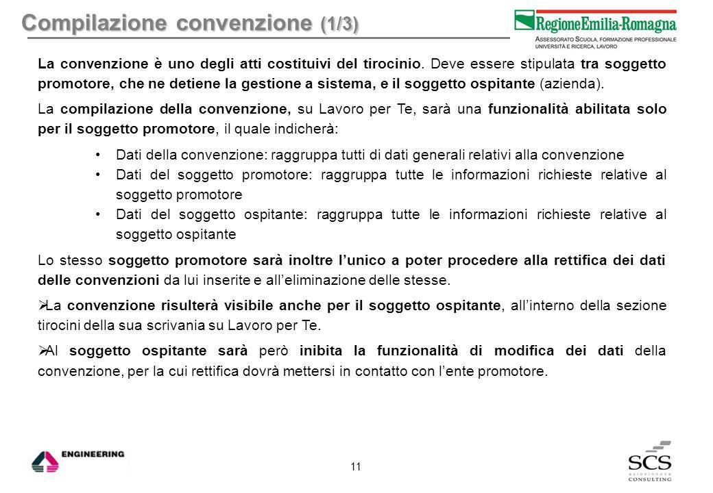 Compilazione convenzione (1/3)