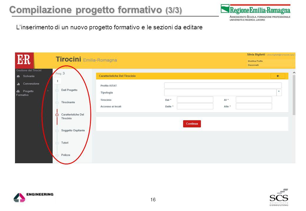 Compilazione progetto formativo (3/3)