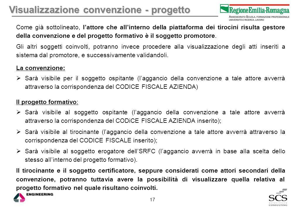 Visualizzazione convenzione - progetto