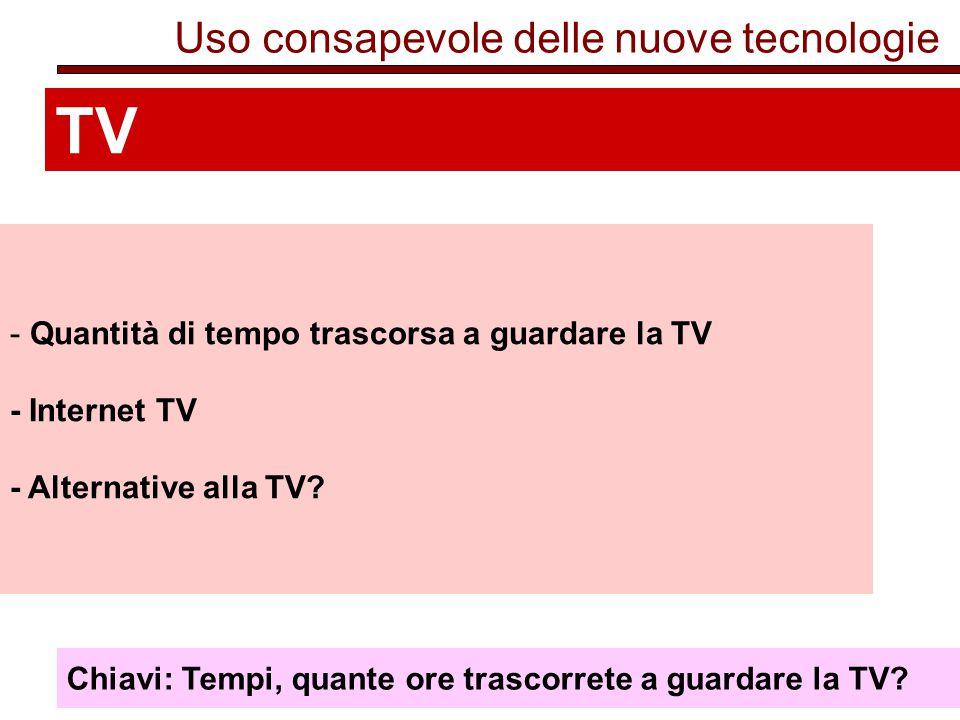 TV Uso consapevole delle nuove tecnologie