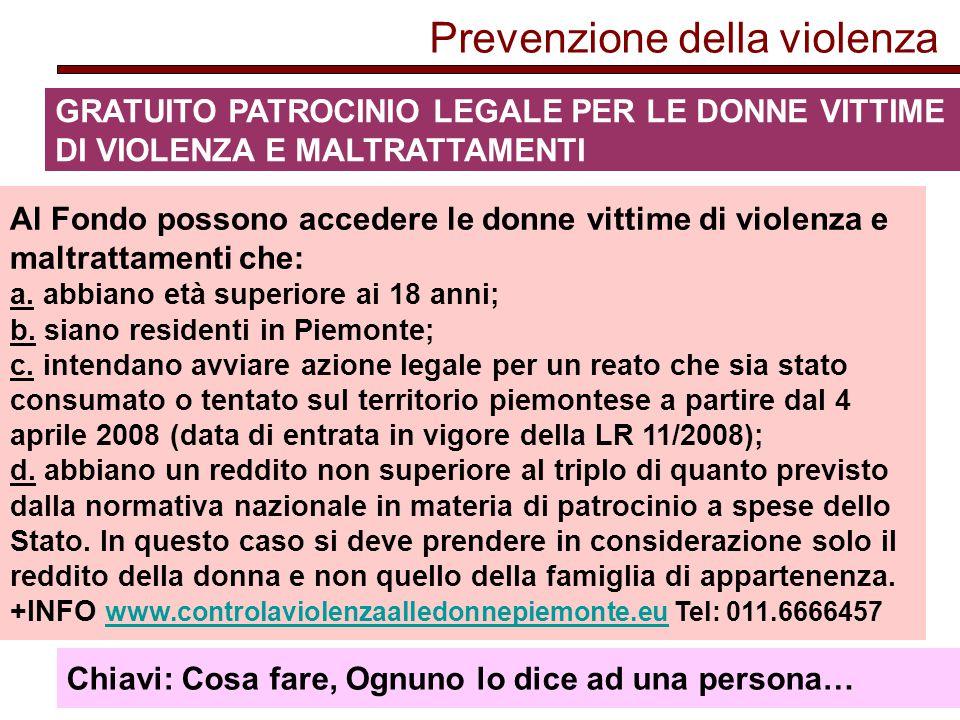 Prevenzione della violenza