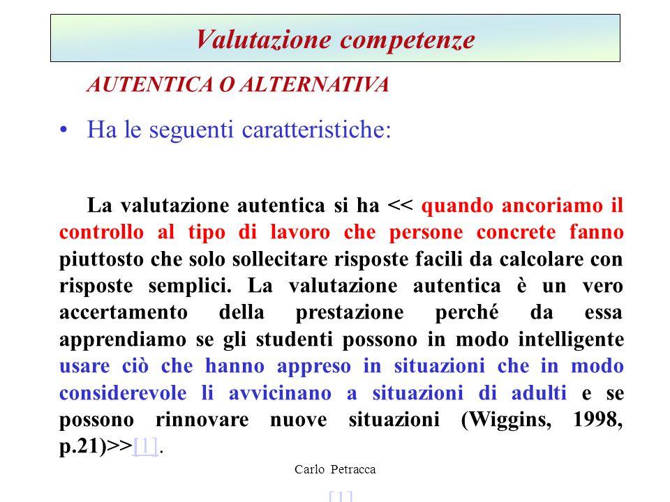 Valutazione competenze
