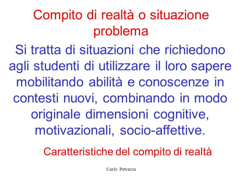 Compito di realtà o situazione problema