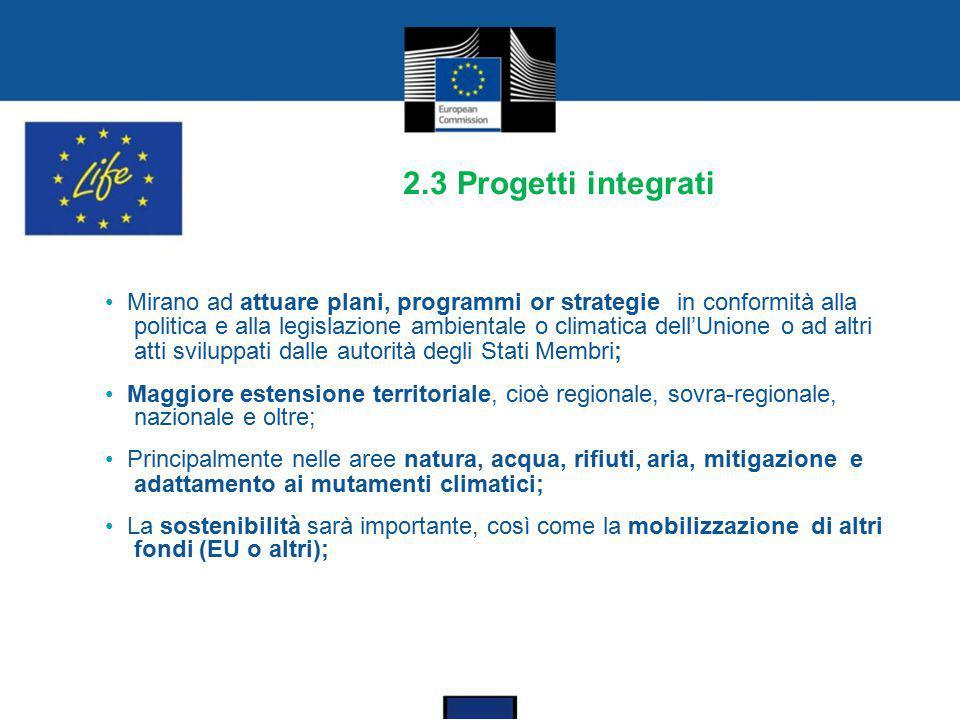 2.3 Progetti integrati