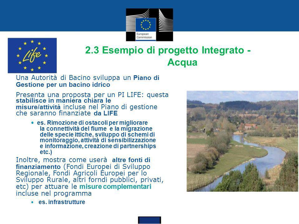 2.3 Esempio di progetto Integrato - Acqua
