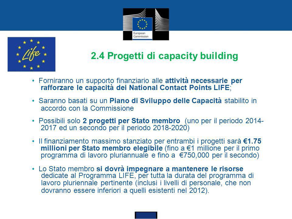 2.4 Progetti di capacity building