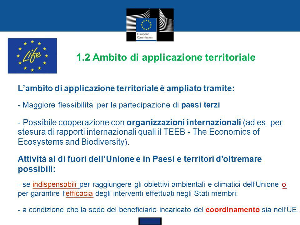 1.2 Ambito di applicazione territoriale