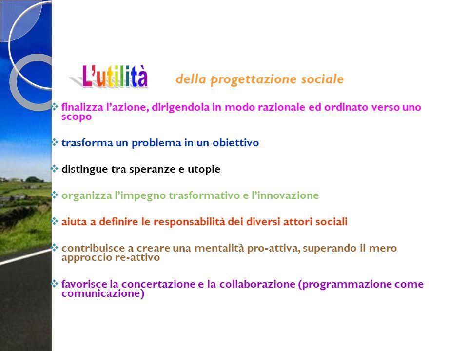 della progettazione sociale