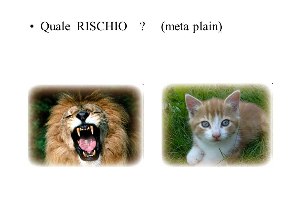Quale RISCHIO (meta plain)