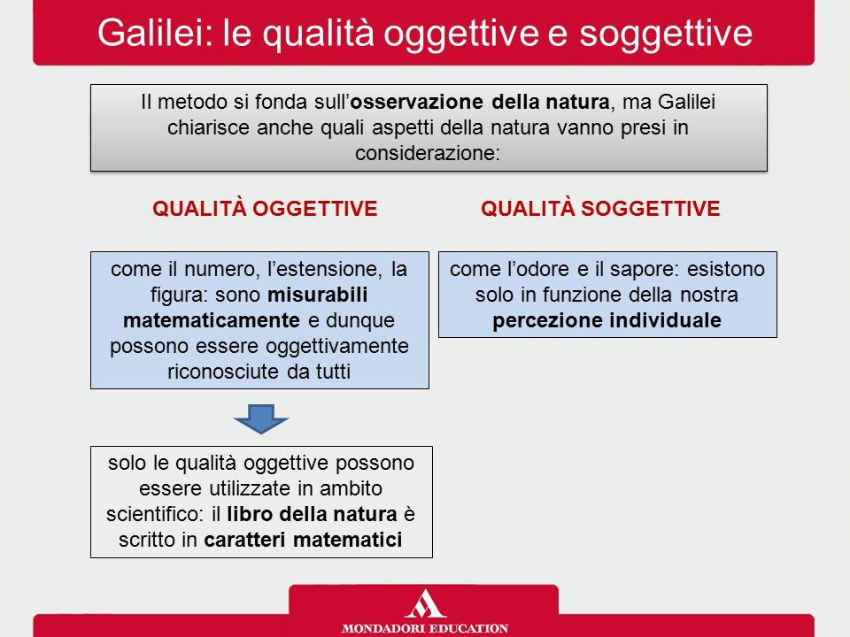 Galilei: le qualità oggettive e soggettive