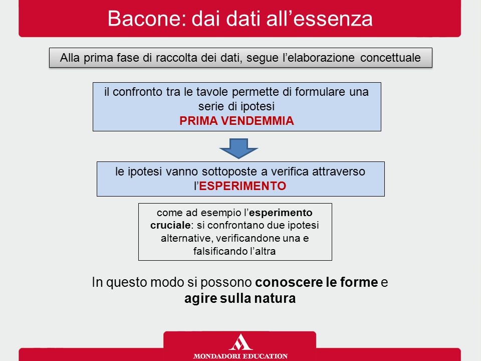 Bacone: dai dati all'essenza