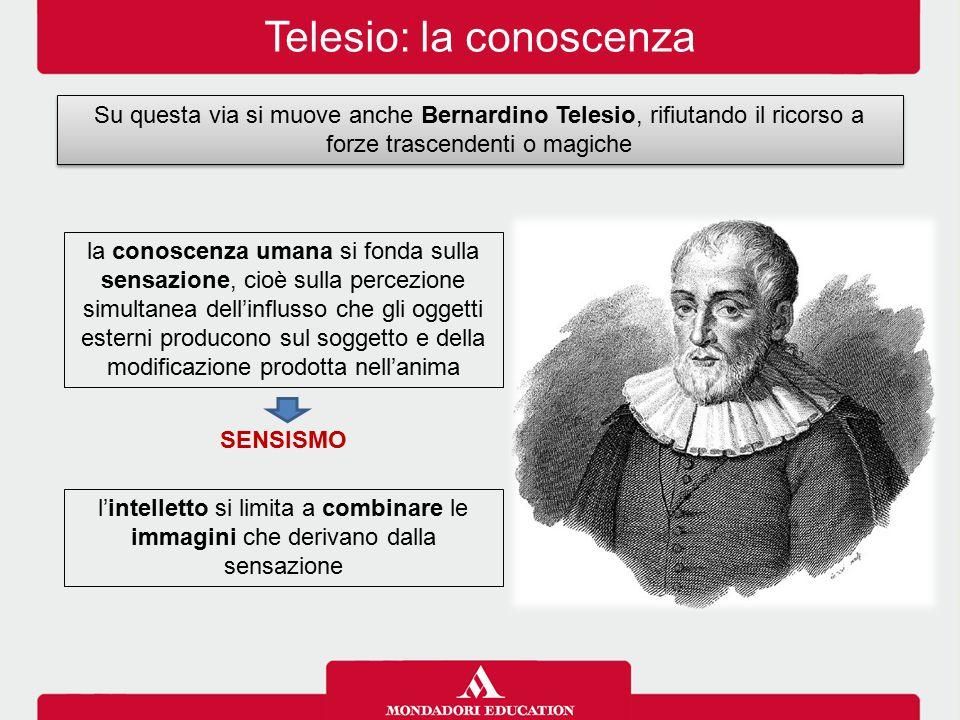 Telesio: la conoscenza
