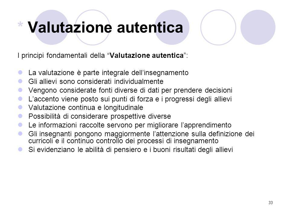 * Valutazione autentica