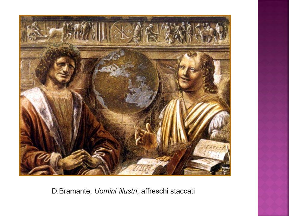 D.Bramante, Uomini illustri, affreschi staccati