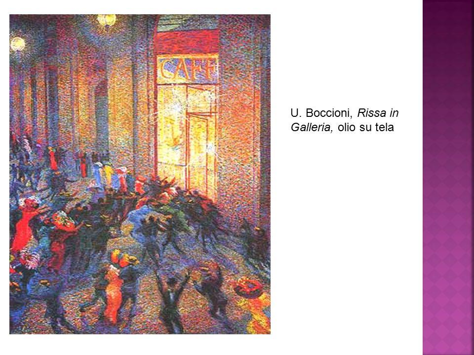 U. Boccioni, Rissa in Galleria, olio su tela