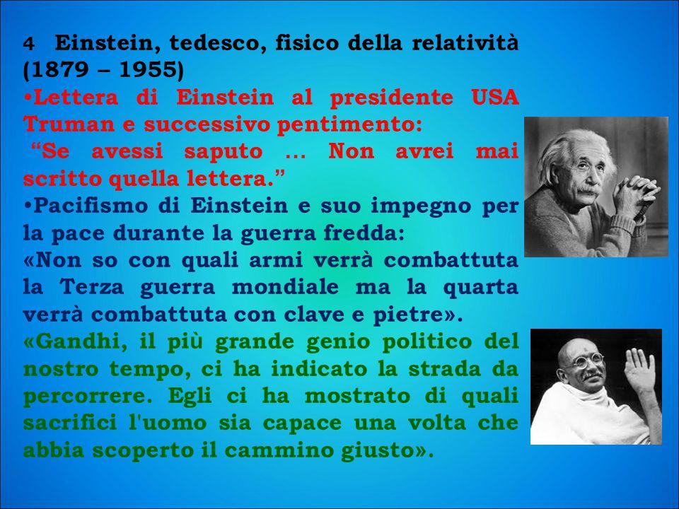 Lettera di Einstein al presidente USA Truman e successivo pentimento: