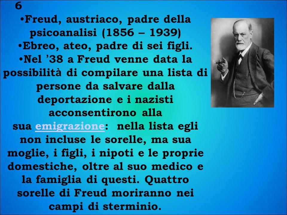 Freud, austriaco, padre della psicoanalisi (1856 – 1939)