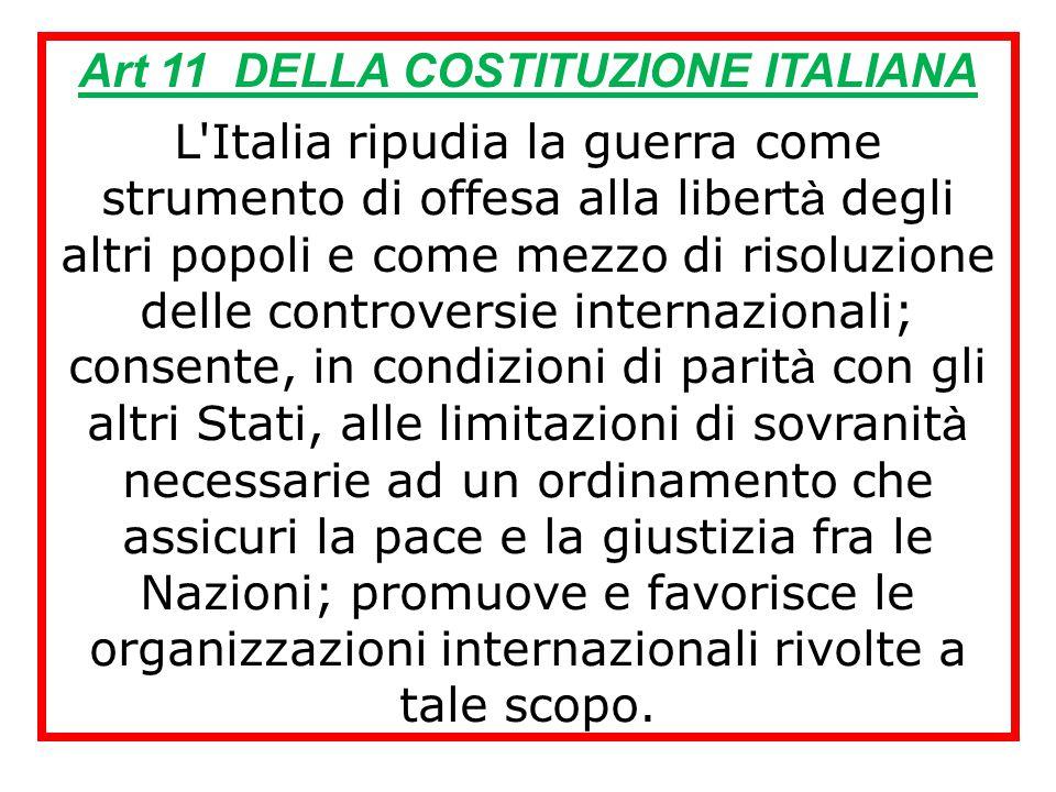 Art 11 DELLA COSTITUZIONE ITALIANA