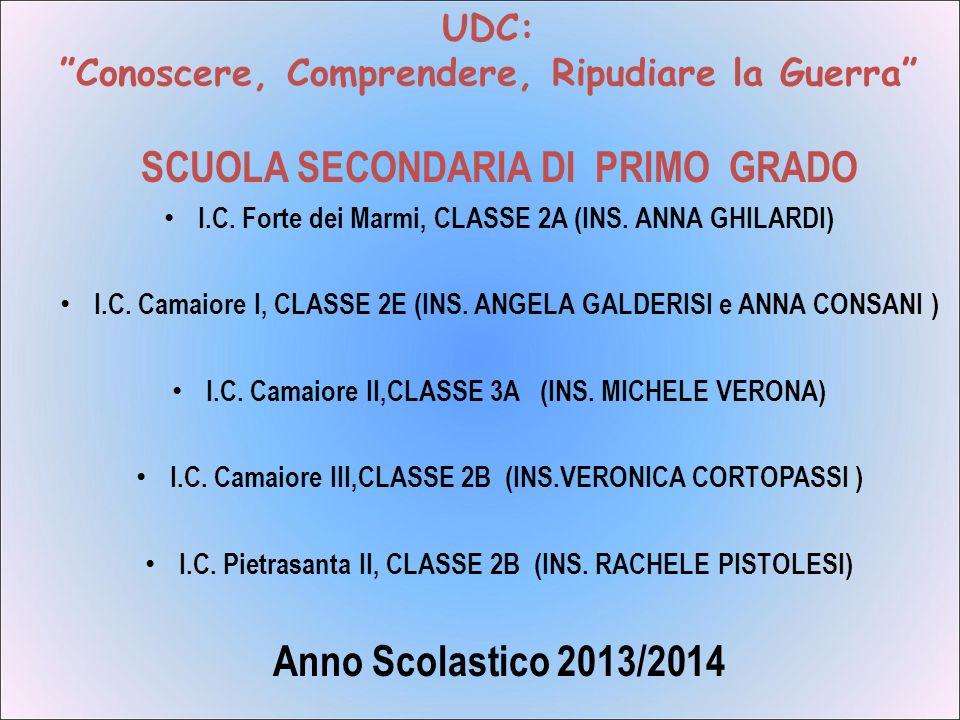 SCUOLA SECONDARIA DI PRIMO GRADO Anno Scolastico 2013/2014