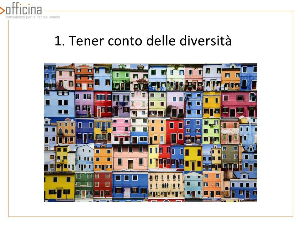 1. Tener conto delle diversità