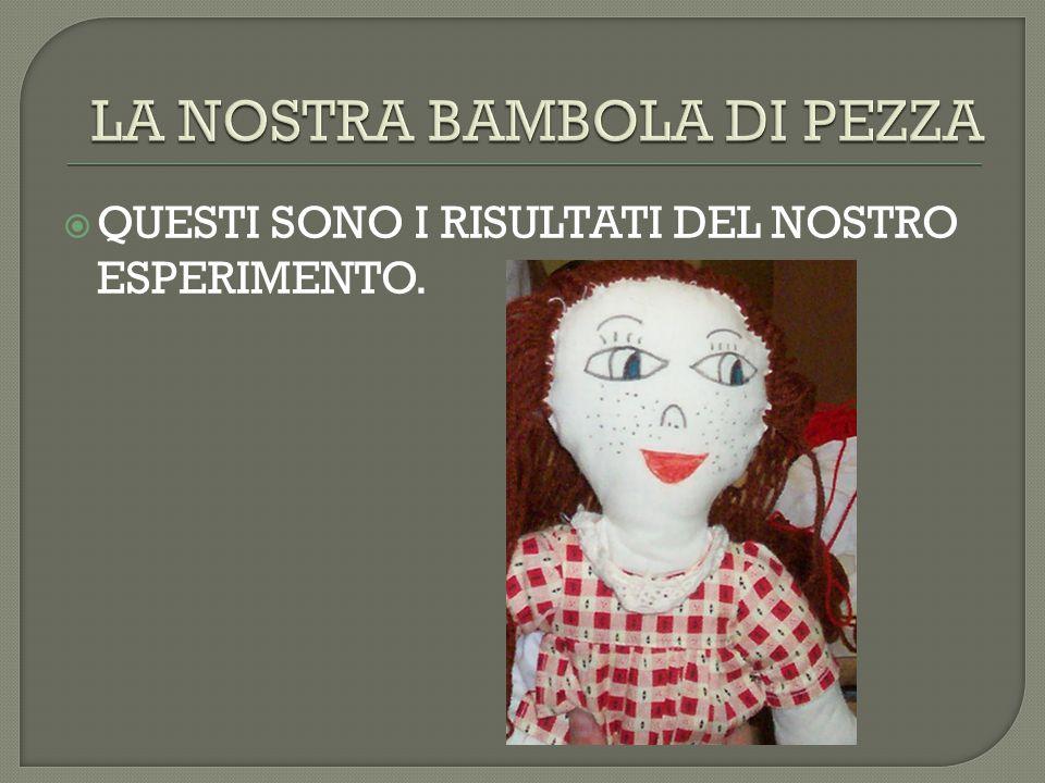 LA NOSTRA BAMBOLA DI PEZZA