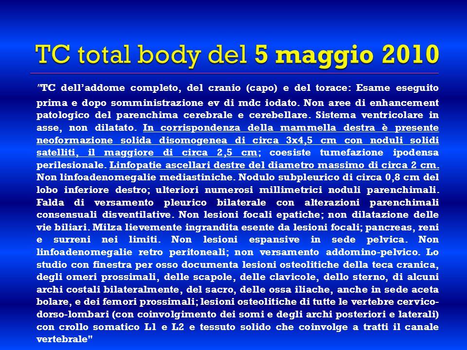 TC total body del 5 maggio 2010