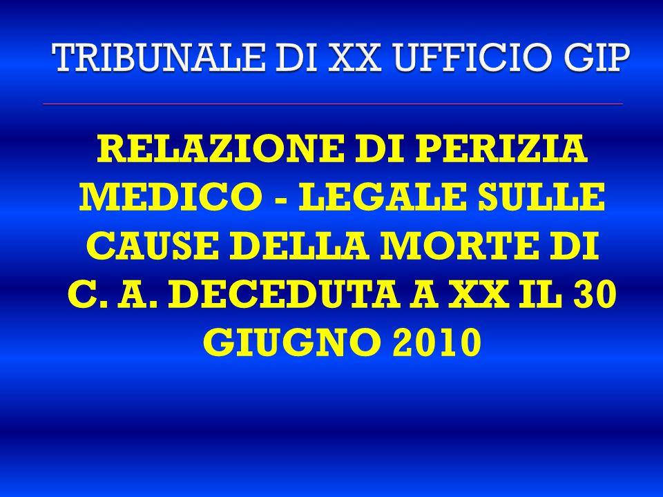 TRIBUNALE DI XX UFFICIO GIP