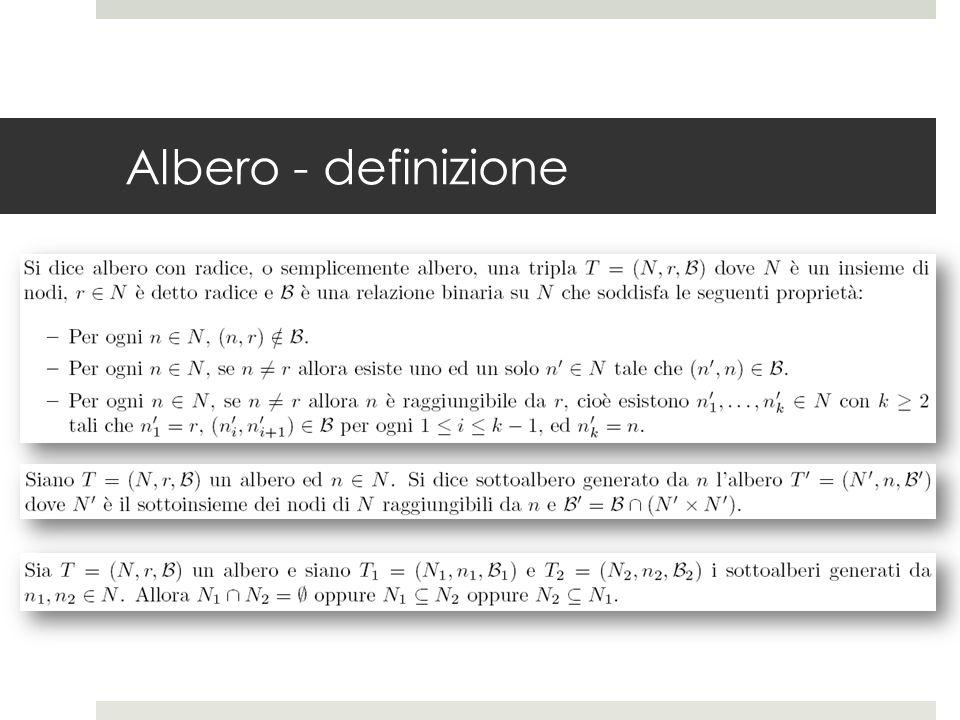 Albero - definizione
