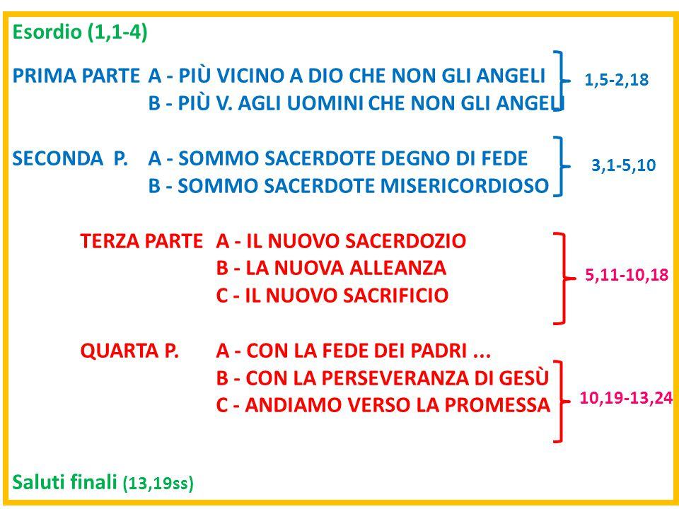 PRIMA PARTE A - PIÙ VICINO A DIO CHE NON GLI ANGELI