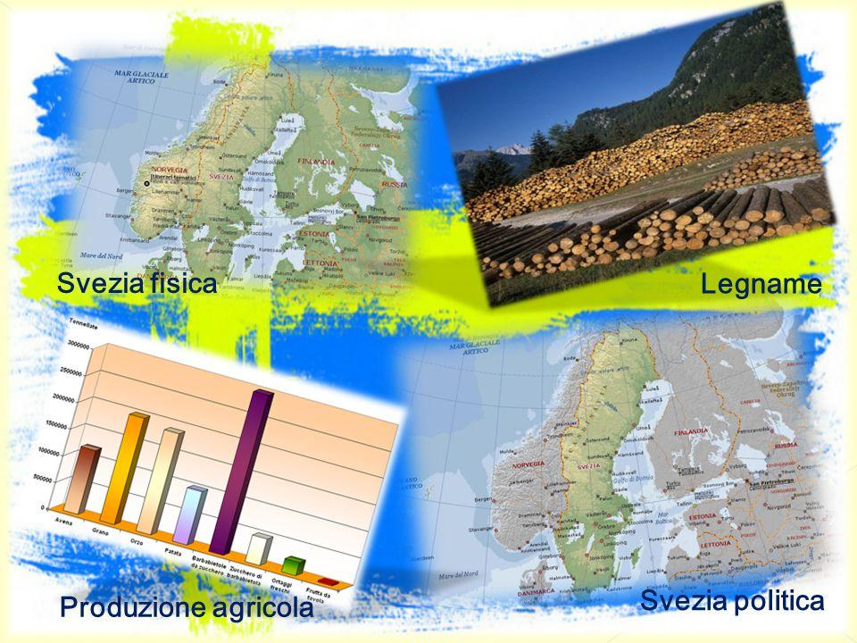 Svezia fisica Legname Svezia politica Produzione agricola