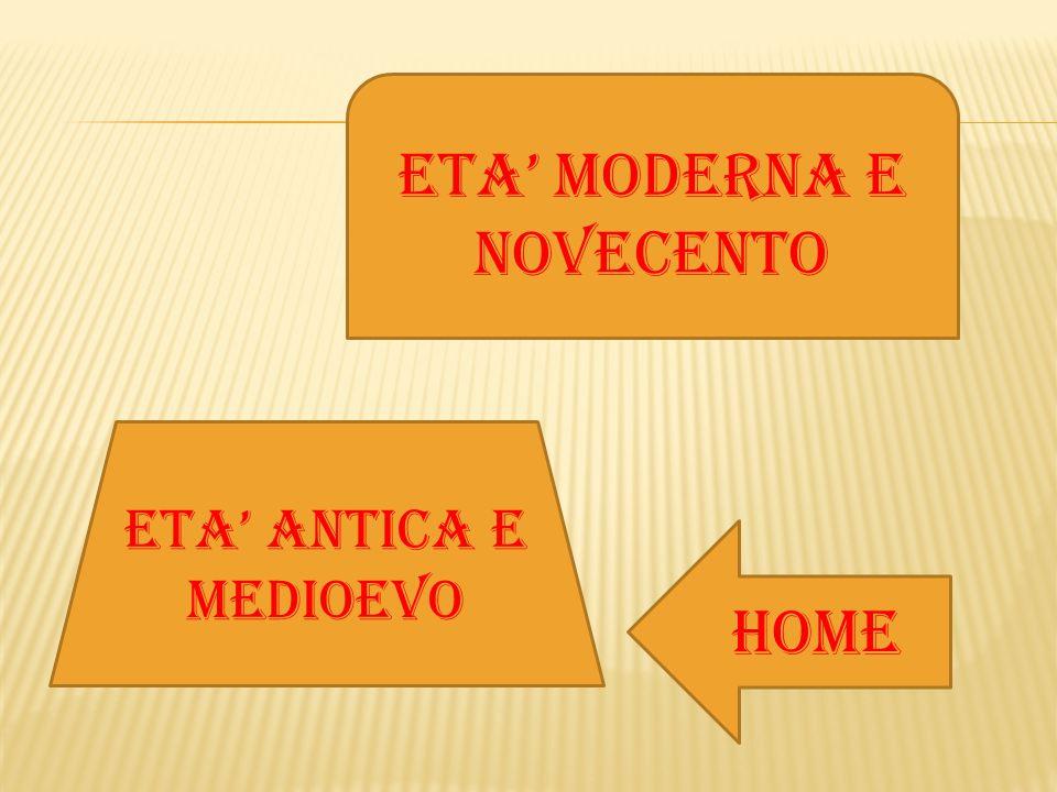 ETA' MODERNA E NOVECENTO