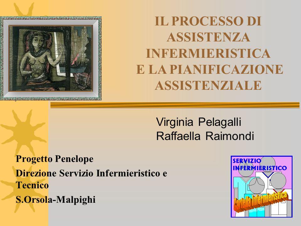 IL PROCESSO DI ASSISTENZA INFERMIERISTICA E LA PIANIFICAZIONE ASSISTENZIALE