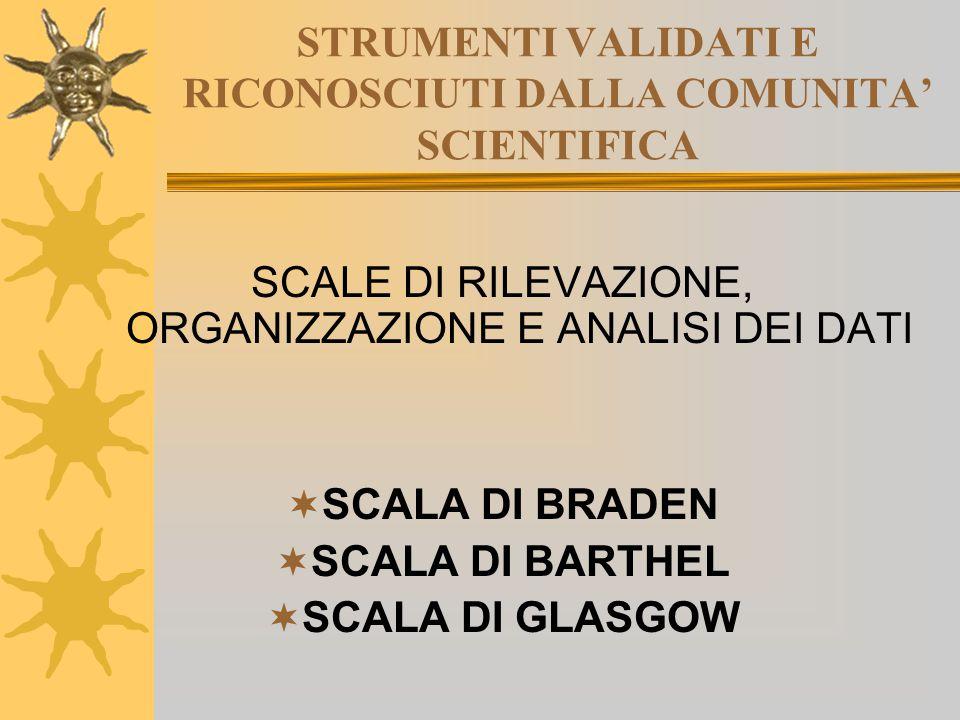 STRUMENTI VALIDATI E RICONOSCIUTI DALLA COMUNITA' SCIENTIFICA