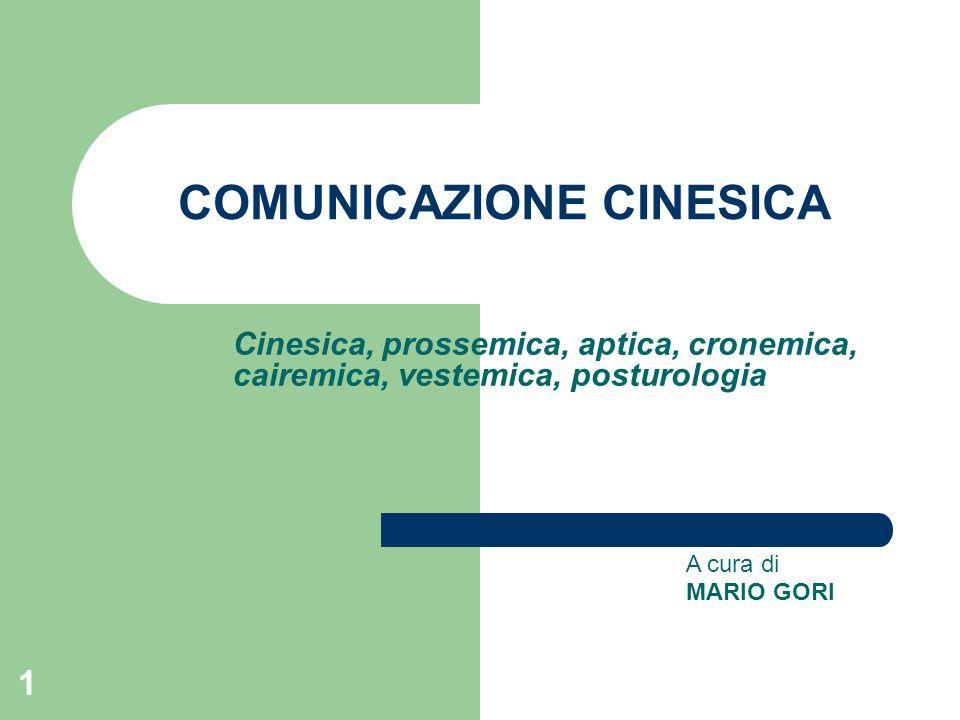 COMUNICAZIONE CINESICA
