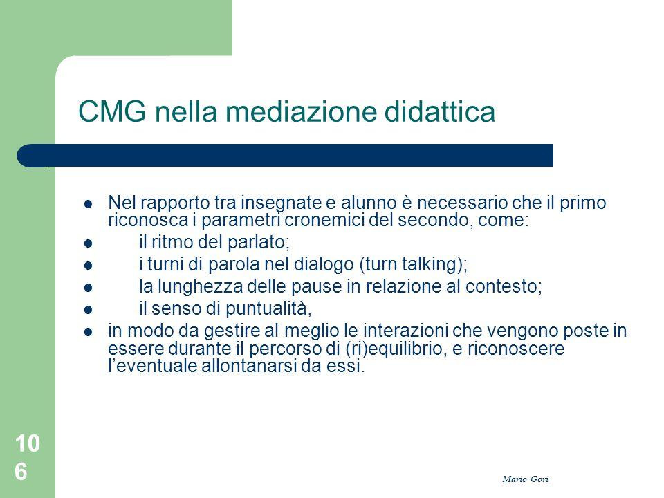 CMG nella mediazione didattica