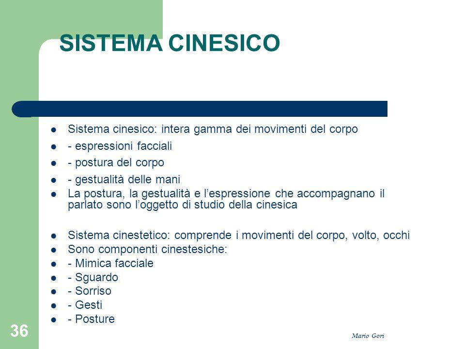 SISTEMA CINESICO Sistema cinesico: intera gamma dei movimenti del corpo. - espressioni facciali. - postura del corpo.